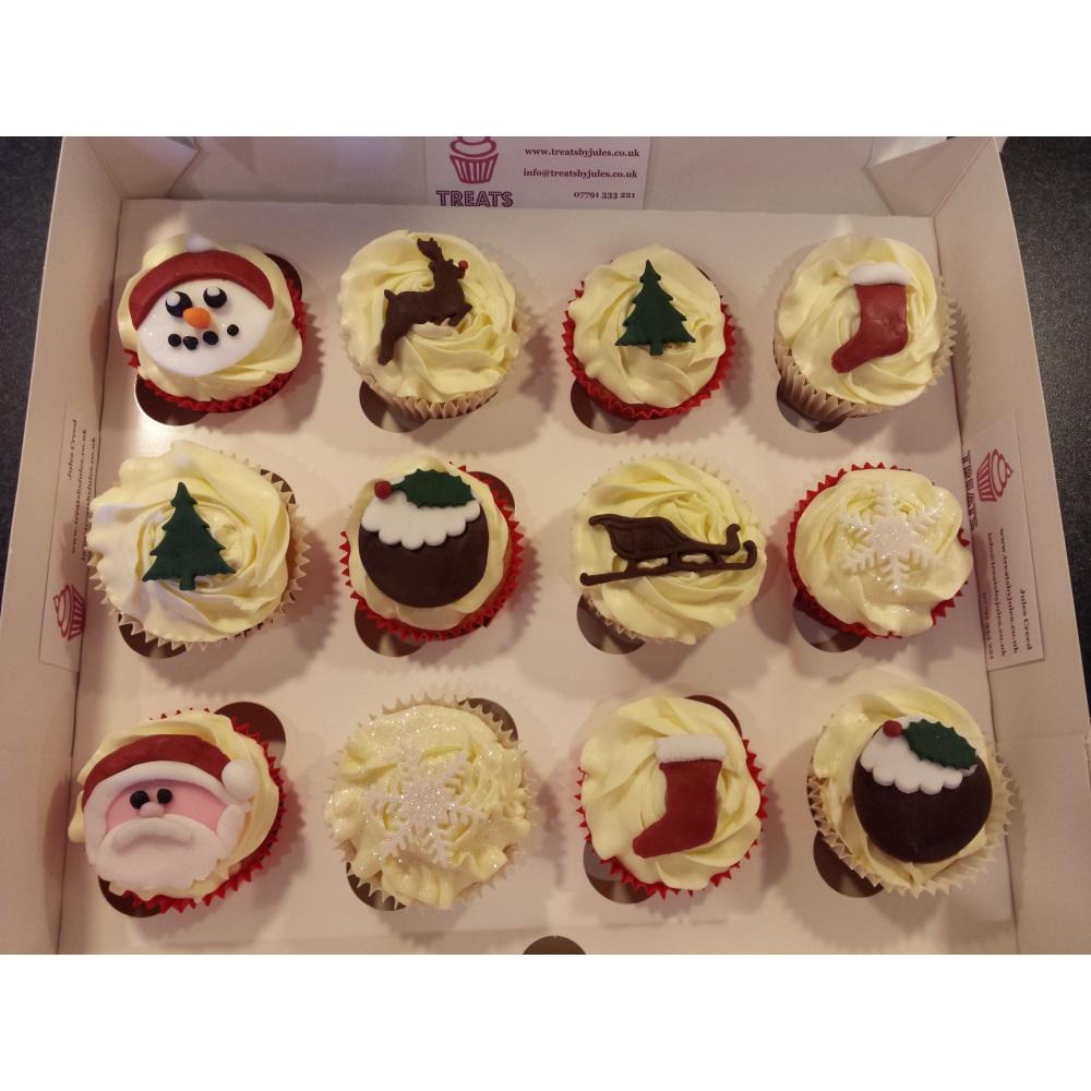 Christmas Cupcakes Treats By Jules